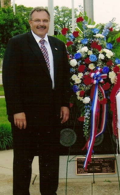Ray Soliman at the Crest Hill Veteran's Memorial Garden
